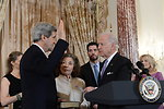 Vice President Biden Swears In Secretary Kerry