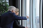 European Parliament President Buzek Shows Secretary Clinton the View of Brussels