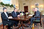 Secretary Clinton Meets With President Carter and Dr. Hardman