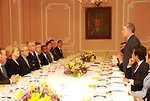 Secretary Clinton Attends Luncheon Hosted By Colombian President Uribe