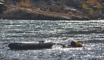 Tracking salmon spawning below Englebright Dam
