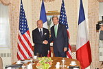 Secretary Kerry Meets With French Foreign Minister Fabius