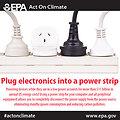 Plug electronics into a power strip