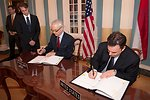 Assistant Secretary Shapiro and Ambassador Bekink Sign a New U.S.-Kingdom of the Netherlands Status of Forces Agreement