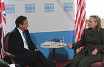 Secretary Clinton Meets With UK Prime Minister Cameron