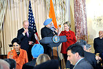 Vice-President Biden, Secretary Clinton Co-Host Social Lunch in Honor of Indian Prime Minister