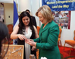 Secretary Clinton With a Woman Entrepreneur