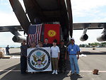 U.S. Embassy Bishkek FSO With Relief Workers and Osh Airport Staff