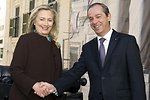Secretary Clinton Is Welcomed By Maltese Prime Minister Gonzi