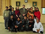Mission Director for Punjab Jeffrey Bakken with students of Gender Studies Department of Punjab University.