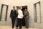 Tour Guide Gawron Explains an Exhibit to Secretary Clinton, Ambasador Feinstein, and Polish Foreign Minister Sikorski