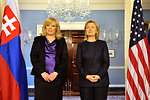 Secretary Clinton Holds a Bilateral Meeting With Slovak Prime Minister Radicova