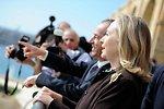 Secretary Clinton and Maltese Prime Minister Gonzi Visit the Upper Barrakka Gardens