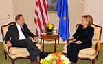 UNGA 2009: Secretary Clinton Meets With EU High Representative