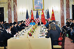 Secretary Clinton Shakes Hands Co-Chairs Closing Session With Chinese State Councilor Liu Yandong