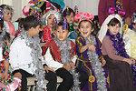 Turkmen Children Laugh While Playing Games