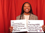 I am Supporting the National HIV/AIDS Strategy because Together We Can Make a Difference. I'm FACING AIDS because I Don't Want Any More Losses in My Community.