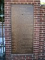 Plaque commemorating Benjamin Franklin at cemetery at Independence National Historic Park.  'He tore from the skies the lightning and from tyrants the sceptre.'