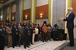 Secretary Kerry Announces Raise During Meet-and-Greet at Embassy Addis Ababa