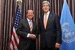 Secretary Kerry Meets With UN Special Representative Kobler in Kinshasa
