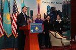 Bakhytzhan Zharylkassymovich Abdraim Welcomes Secretary Clinton