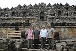 Under Secretary McHale Poses for a Photo at the Footsteps of the Borobudur Temple