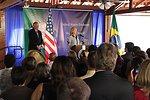 Secretary Clinton Addresses Embassy Brasilia Staff and Families