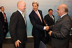 Secretary Kerry Greets EU Foreign Ministers