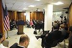 Ambassador Cunningham, Consul General Rubinstein, and CISCO Senior Manager Abzuk Celebrate the ACE Award in Jerusalem