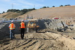 Excavating Folsom Dam's auxiliary spillway