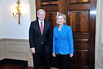 Secretary Clinton Poses for a Photo With Australian Foreign Minister Rudd