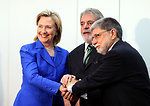 Secretary Clinton With President Lula and Foreign Minister Celso Amorim