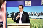 Richard T. Drennan, Agricultural Counselor addressing the participants at the Expo
