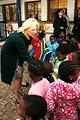 Dr. Jill Biden Shakes Hands With South African Children