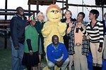 Dr. Jill Biden, Liz Berry Gips, Mapetla Staff, and Kami Pose for a Photo