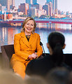 Secretary Clinton Jokes With Australian Students