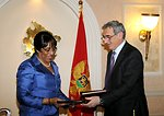 Ambassador Brown and Montenegro Minister Lompar Sign the U.S.-Montenegro Open Skies Agreement