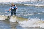 June 4, Testing the water at Grand Isle State Park, La