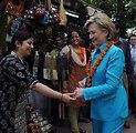 Secretary Clinton Visits Local Shops in New Delhi
