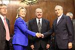 Secretary Clinton Greets Michel Temer