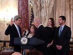 Vice President Biden Swears In Secretary Kerry
