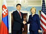 Secretary Clinton Meets With Slovak Foreign Minister