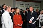 Secretary Clinton Listens to Dr. Dilmurod