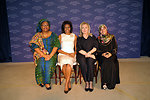 Secretary Clinton and First Lady Obama With  2011 Nobel Peace Prize Laureates Leymah Gbowee and Tawakkol Karman
