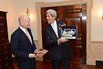Secretary Kerry and UK Foreign Secretary Hague Exchange Photos