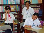 Eye screening at Phan Dinh Phung Primary School