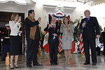 Josefina Garcia Nores, Peruvian President Alan Garcia Perez, Ambassador McKinley and Mrs. McKinley Toast to the Fourth of July