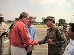 Special Representative Holbrooke Meets Pakistani Army Brigadier Mehmood and Karachi's Consul General Martin