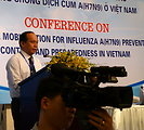 Mr. Vu Van Tam, Vice Minister of Agriculture and Rural Development, speaks at the Conference on Resource Mobilization for Influenza A (H7N9) Prevention, Control and Preparedness in Vietnam