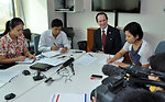 USAID MissionDirector Francis Donovan meets the press